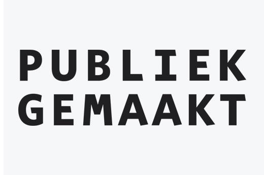 Publicatie: Publiek Gemaakt