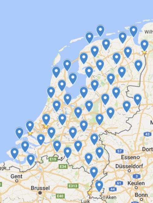 Cleo's vertaling van de kaart naar Google Maps
